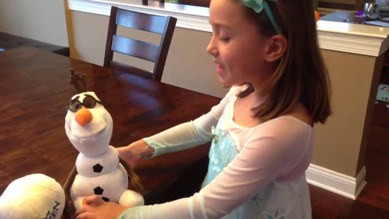 Singing Olaf Toy Youtube