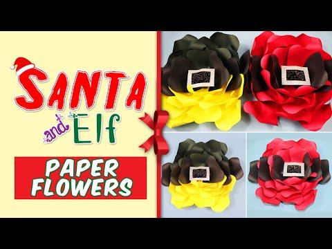 Santa and Elf DIY Paper Flowers: Christmas Themed (Tutorial)