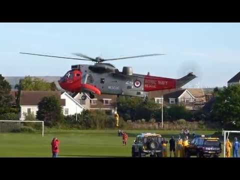 Navy, RNLI and Coastguard training at Dunbar Winterfield Park
