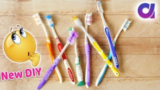 How to Reuse Old Waste Toothbrush at home | Best out of waste | Artkala 473