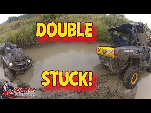 TUG HILL RIDE PART 1! GET OUT THE WINCH! CAN-AM OUTLANDERS POLARIS YAMAHA