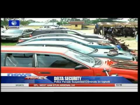 Delta Police Parade Suspected Criminals In Ughelli 10/08/15