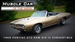 Muscle Car Of The Week Video #29: 1969 Pontiac GTO Ram Air IV Convertible 4-Speed Video
