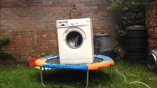 Washing machine brick bouncing on trampoline - tiny tim Living In The Sunlight
