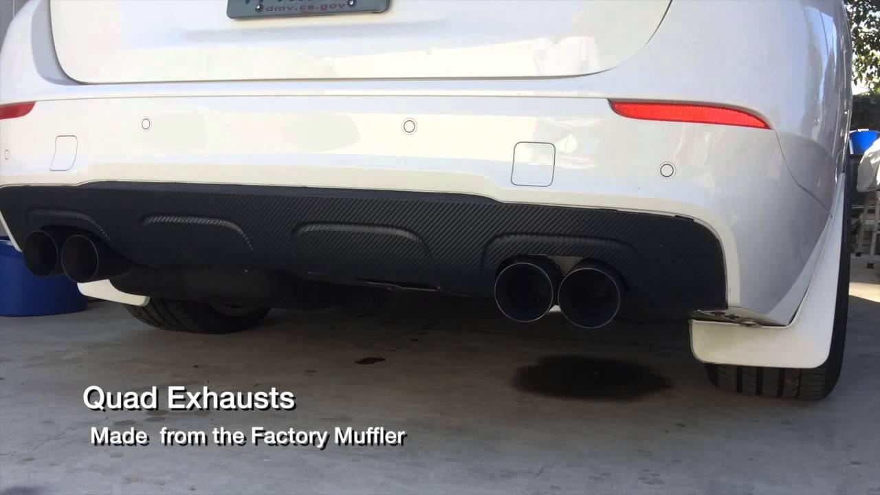 BMW X1 M Quad Exhaust DINAN Tunned N20