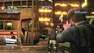 Resident evil 6 Mercenaries  solo 150 combo wombo gameplay (default Leon 1077K)