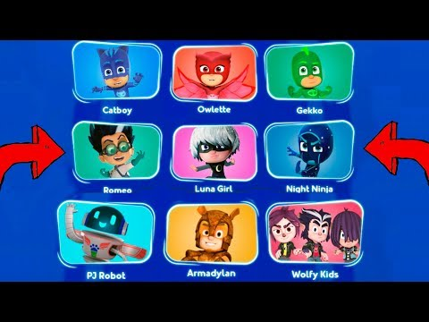 PJ Masks Game CHARACTERS List NEW 2019