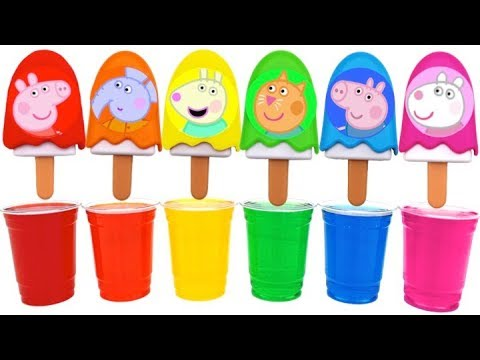 Thumbnail: Learn Colors Dye Coloring Peppa Pig Ice Cream Popsicles