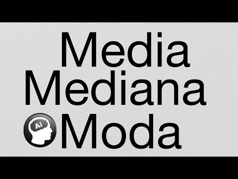 Como calcular la Media, Moda y Mediana, medidas de tendencia central