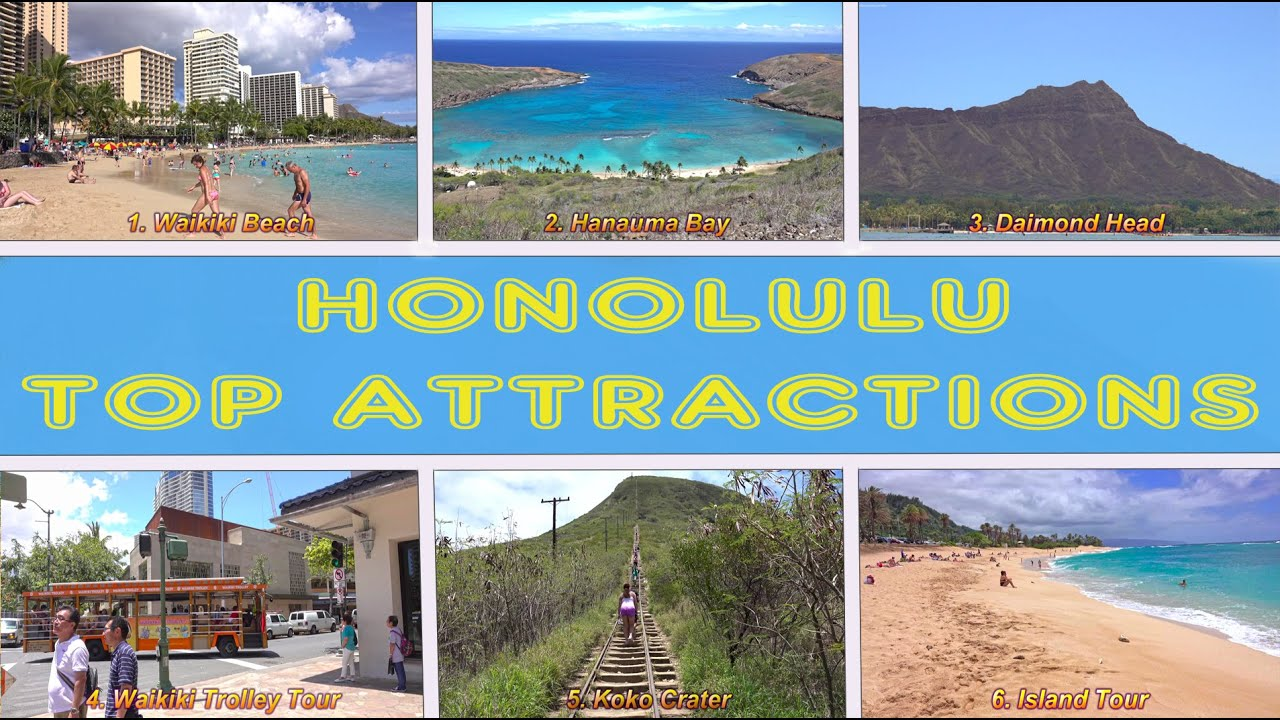 Honolulu Top Attractions - Oahu, Hawaii 4K - YouTube