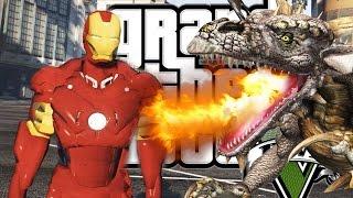GTA 5 Mods : ЖЕЛЕЗНЫЙ ЧЕЛОВЕК vs ДРАКОНЫ