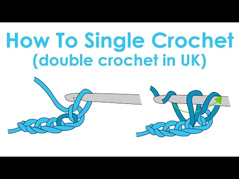 How To Single Crochet (Double Crochet In UK) - Crochet Lesson 2