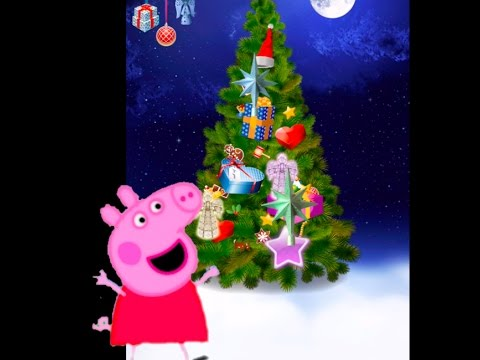 jingle bells peppa pig and george pig decorate christmas trees