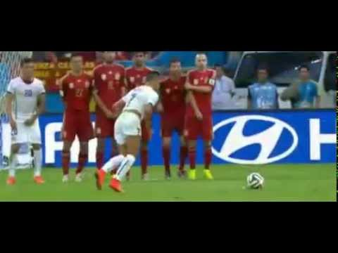 Charles Aránguiz Goal Spain vs Chile 0 2 World Cup 2014   YouTube