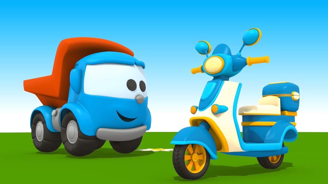 leo junior baut einen motorroller cartoon f r kinder. Black Bedroom Furniture Sets. Home Design Ideas