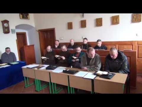 Modlitwa brewiarzowa - kapituła kapucynów na Ukrainie