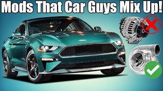 5 Car Mods Veteran Enthusiasts STILL Mix Up!