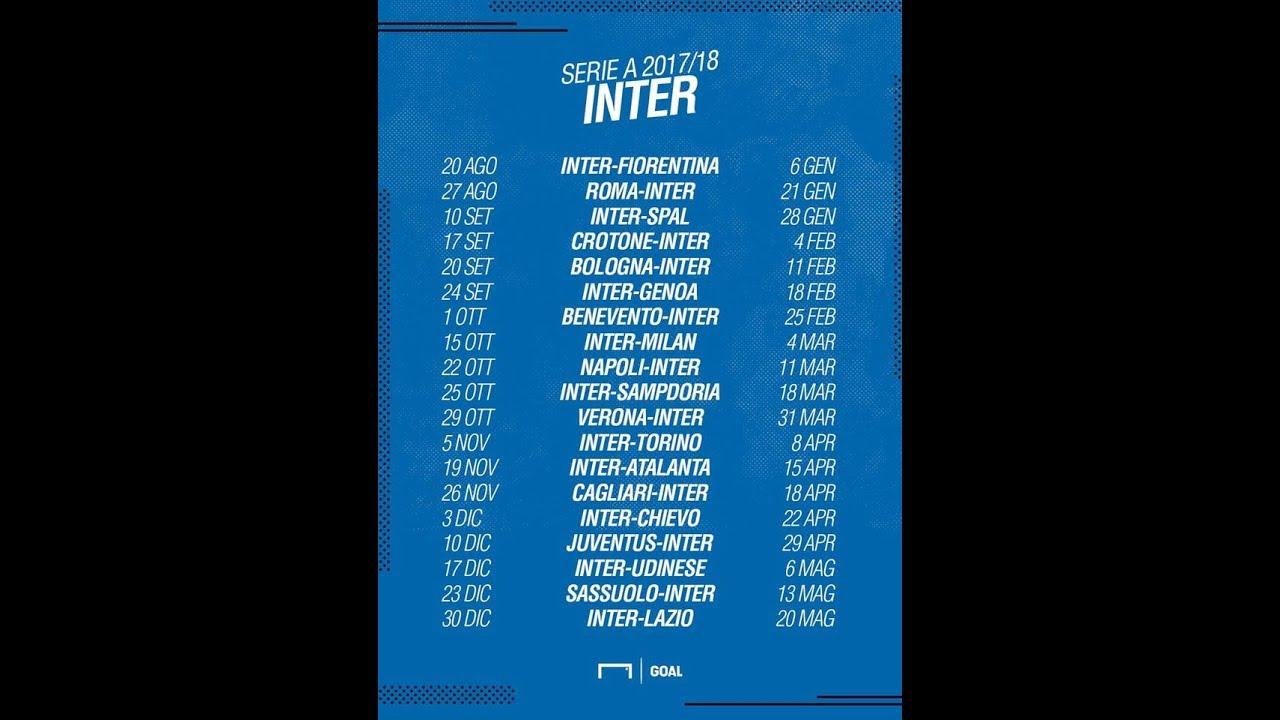 Calendario Serie A Inter Milan.Live Calciomercato Inter E Calendario Serie A Commentiamo Insieme