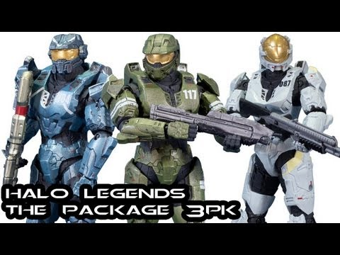 McFarlane Halo Legends: THE PACKAGE 3PK Review