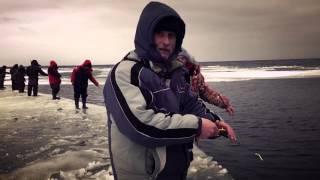 Зимняя рыбалка на Ладоге. Район Дубно.