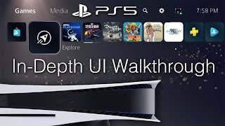 PlayStation 5 UI Walkthrough (60FPS) - PS Store, PS Plus, PS Now, Settings, Etc.