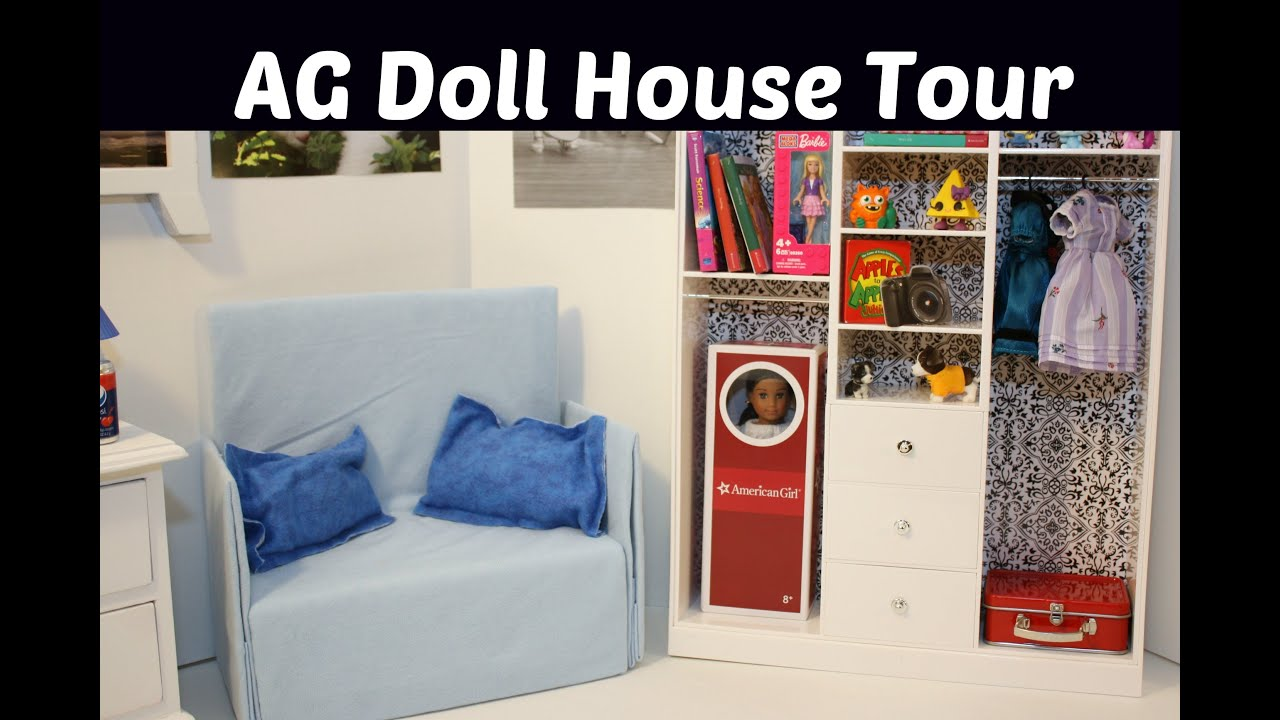 Ag Doll House Tour Living Room Set Overview For American Girl Dolls Youtube