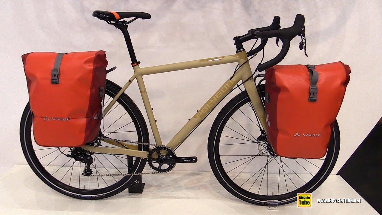 2017 Polygon Bend Riv Bike with Vaude Bags - Walkaround