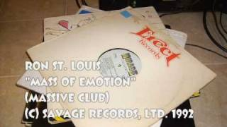 "Ron St.  Louis: ""Mass Of Emotion"" (Massive Club)"