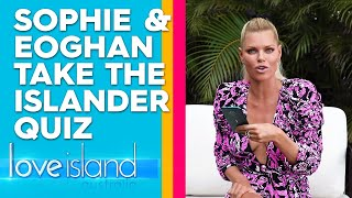 Exclusive: Eoghan and Sophie face off in a Love Island quiz | Love Island Australia 20109