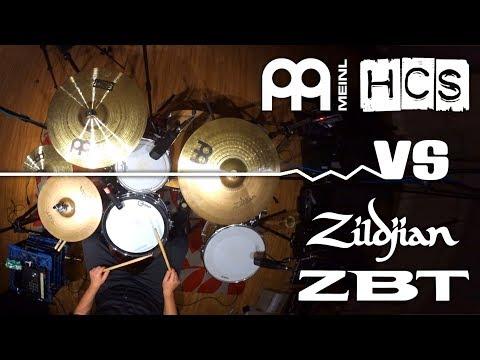 Zildjian ZBT Vs Meinl HCS Budget Cymbal Sets Comparison 10 14 16 18 20 HiHat Crash Splash Ride Cheap