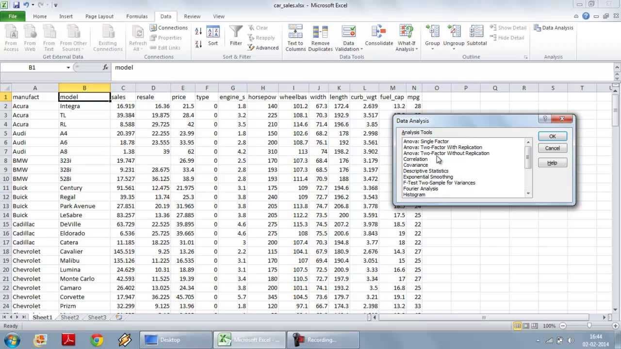 Multiple Linear Regression using Excel Data Analysis Toolpak YouTube – Data Analysis Excel