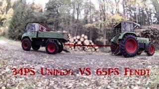 Unimog VS Fendt Tauziehen | 34PS gegen 65PS | Große Überraschung!
