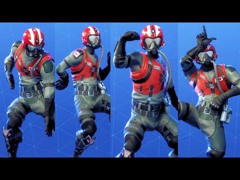 Fortnite WINGMAN STARTER PACK Performs All Dances Season 1-4