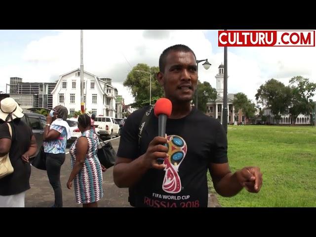 Suriname, Protest leider Rendel Feller Met aanhang bij DNA.