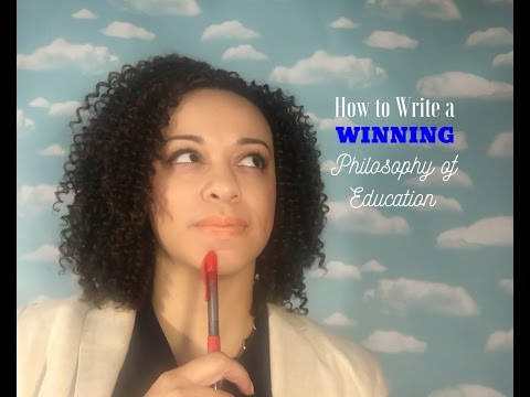 How To Write A WINNING Philosophy Of Education
