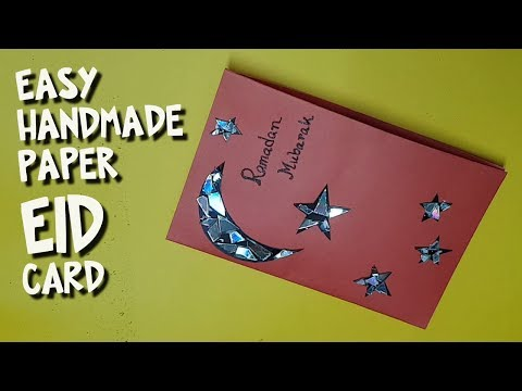 How to Make Easy Hand made Eid Card with Unused CD/ DVD- DIY - Paper Craft Eid Card