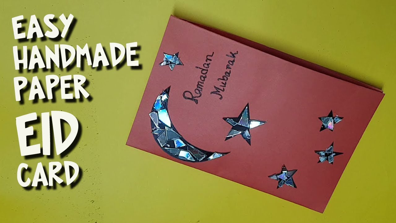 How To Make Easy Hand Made Eid Card With Unused Cd Dvd Diy Paper