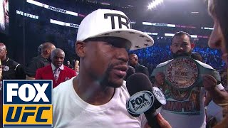 Floyd Mayweather Weigh-in Interview | Weigh-in | Mayweather vs. McGregor