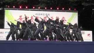 原宿スーパーよさこい2016より、 百物語 さんの原宿口ステージでの演舞(2016年8月28日)