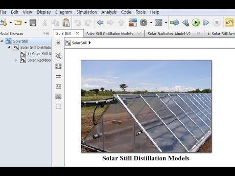 Solar Still Desalination Matlab/Simulink model - YouTube