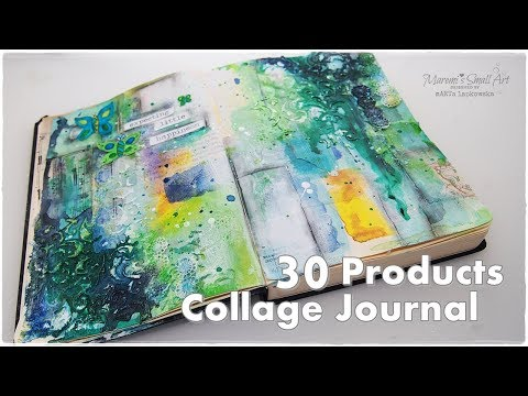 30 Products Journal Collage using Mixed Media Techniques ♡ Maremi's Small Art ♡