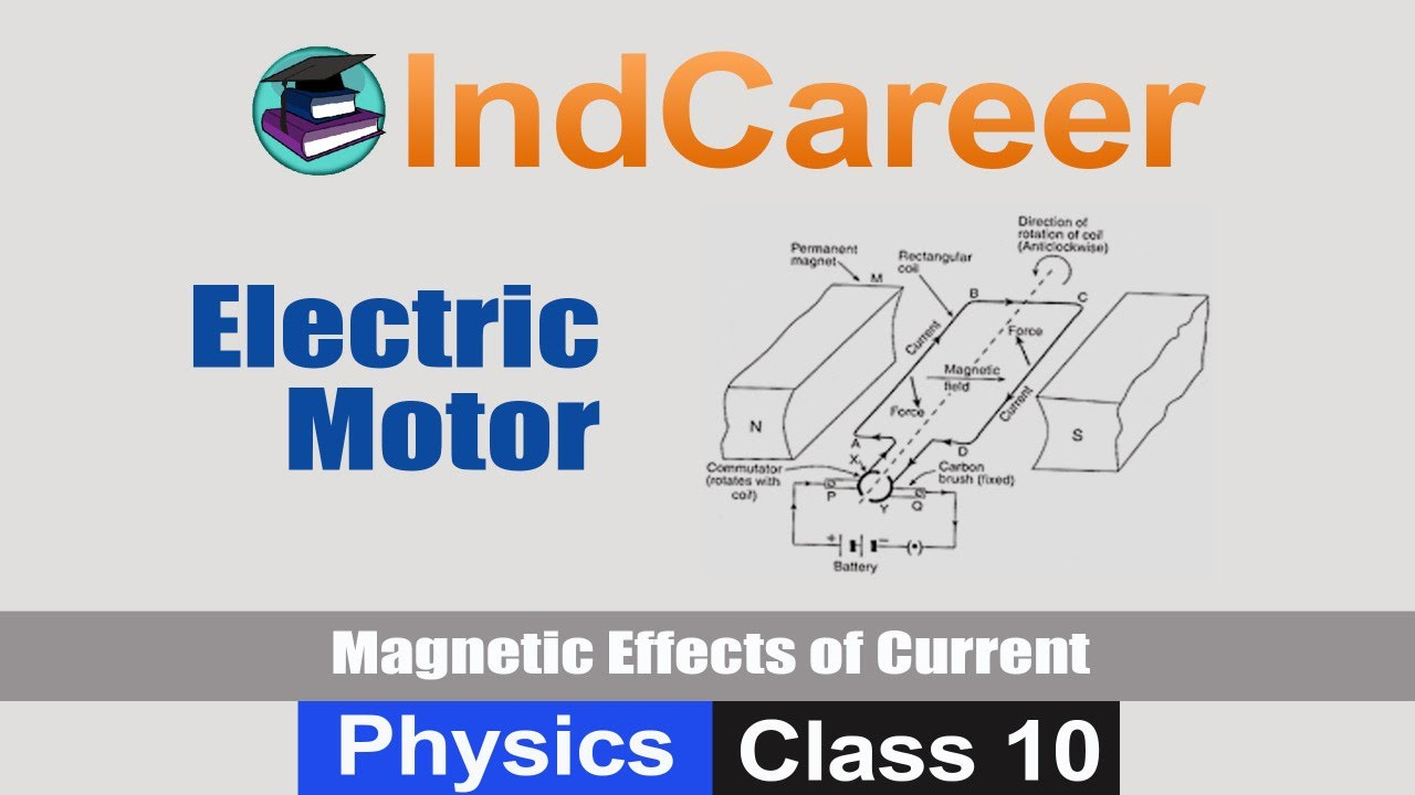 Working of Electric Motor (Magnetic Effects of Electric Current) | Physics  | Class 10