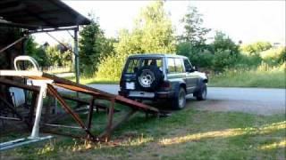 pont elevateur mobile 220 volt 2800 kg pour voiture. Black Bedroom Furniture Sets. Home Design Ideas