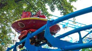 BIZARRE Flying Saucer Spinning Roller Coaster!