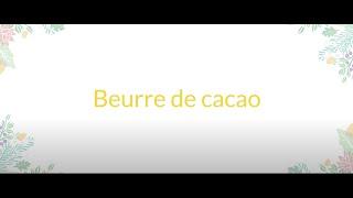 Beurre de cacao solide au frangipanier