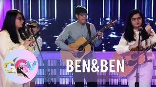 Ben&Ben accepts the challenge to perform using unusual instruments | GGV
