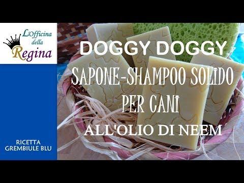 Doggy Doggy - Sapone-shampoo solido per cani all'olio di Neem