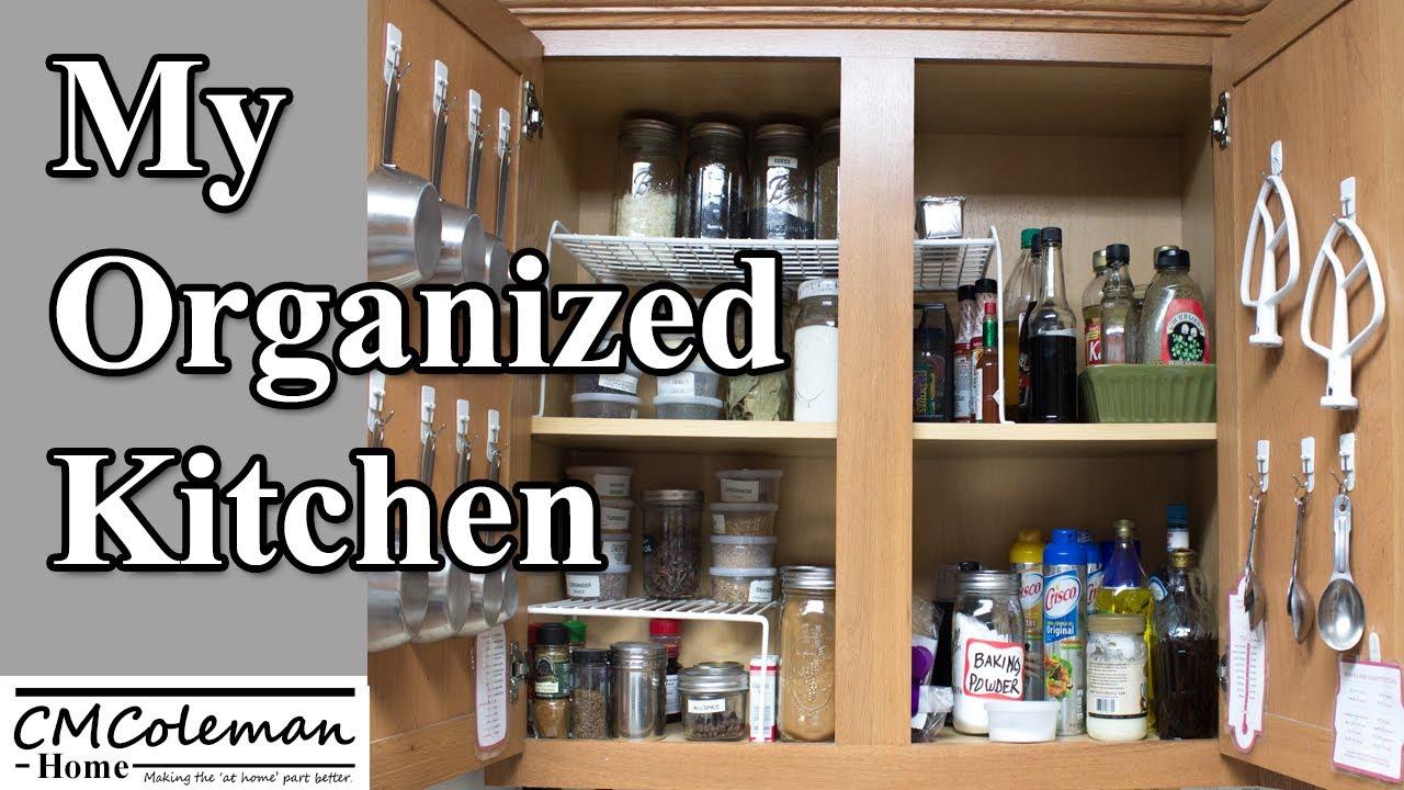 Organized Kitchen Cabinet Tour Youtube