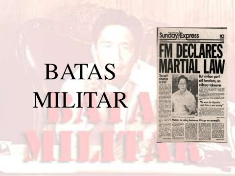 Batas Militar (Martial Law in the Philippines)