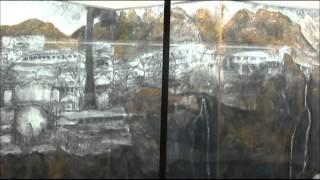 平成27年5月27日に開室した足尾鉱毒展示資料室の式典と、資料室の様子で...